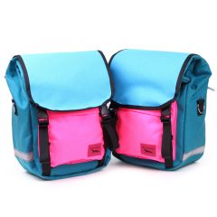*SWIFT INDUSTRIES* mini roll top (teal/turquoise/hot pink)