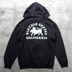 *BICYCLE COFFEE* bicycle coffee zip parka (black)