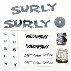 *SURLY* wednesday frame decal set (black)