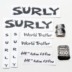 *SURLY* world troller frame decal set (black)