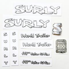 *SURLY* world troller frame decal set (white)