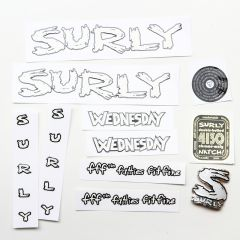 *SURLY* wednesday frame decal set (white)