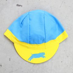 *TEAM DREAM BICYCLING TEAM* 3panel FS team cap (turquoise/yellow)