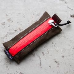 *BLUE LUG* ame pouch (wax brown/pink)