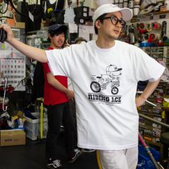 *BLUE LUG* riding ace t-shirt (white)