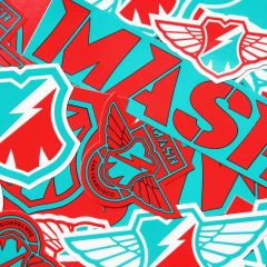 *MASH* sticker pack (red/blue)