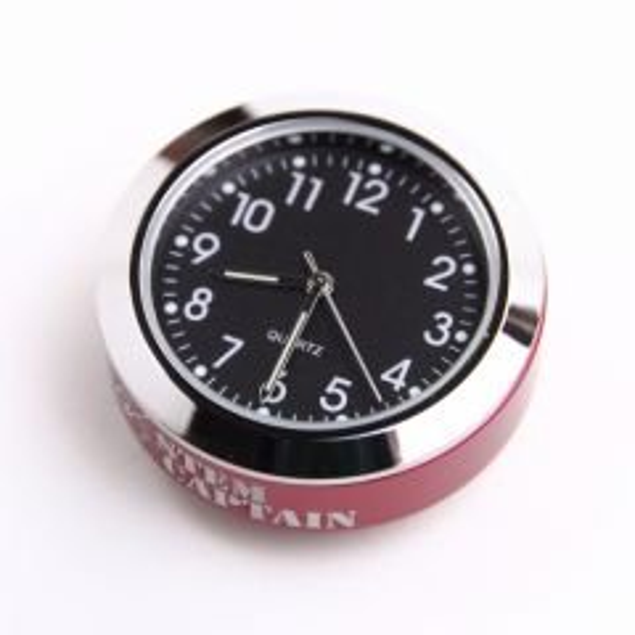 *STEM CAPTAIN* stem cap bike clock (red)