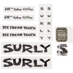 *SURLY* ice cream truck frame decal (black)