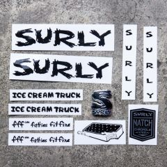 *SURLY* ice cream truck frame decal set (black)