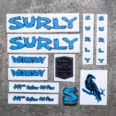*SURLY* wednesday new frame decal set (blue)