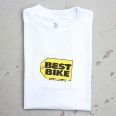 *BLUE LUG* best bike t-shirt (white)