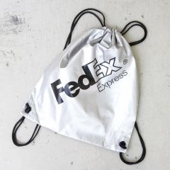 *BL SELECT* FedEx drawstring pack (silver)