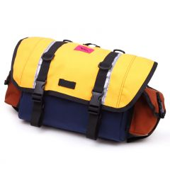 *SWIFT INDUSTRIES* zeitgeist saddle bag (L/navy/saffron/rust)