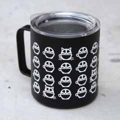 *BICYCLE COFFEE* camp cup (black)