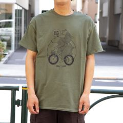 *BLUE LUG* bear family t-shirt (green)