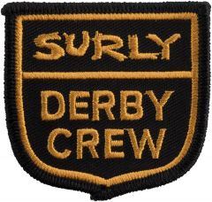 *SURLY* derby crew patch (yellow/black)