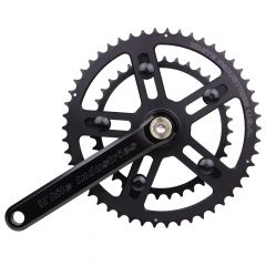 *WHITE INDUSTRIES* VBC road crank (black)