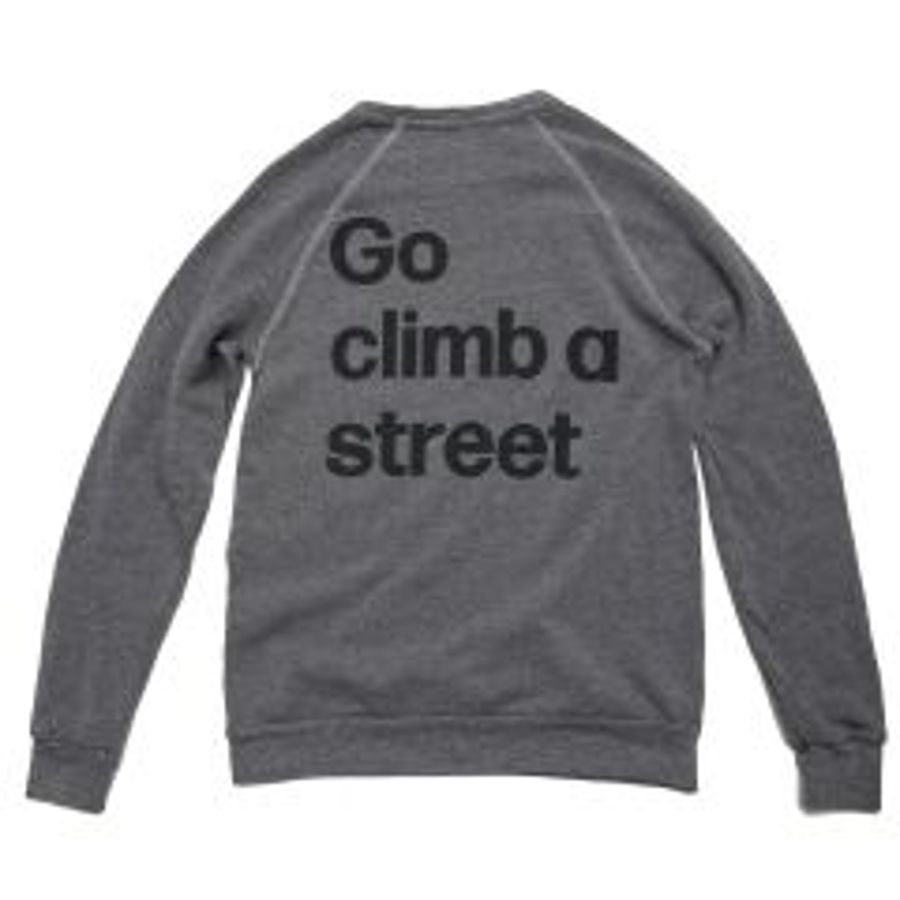 *MASH* go climb crewneck sweat (gray)