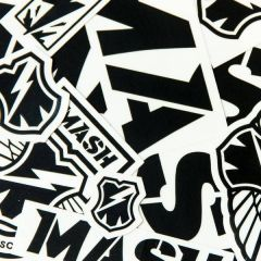 *MASH* sticker pack (black/white)