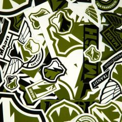 *MASH* sticker pack (olive/black/white)