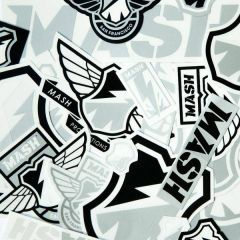 *MASH* sticker pack (silver/black/white)