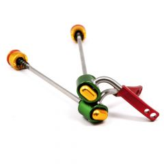 *PAUL* quick release skewer set (rasta)