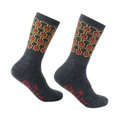 *THE ATHLETIC* the redrum socks (charcoal)